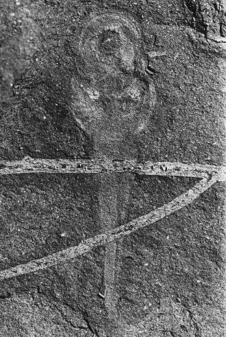Priscomyzon - Counter slab of Priscomyzon riniensis