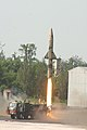 Prithvi Missile being launched from Chandipur Range on January 07, 2014.jpg