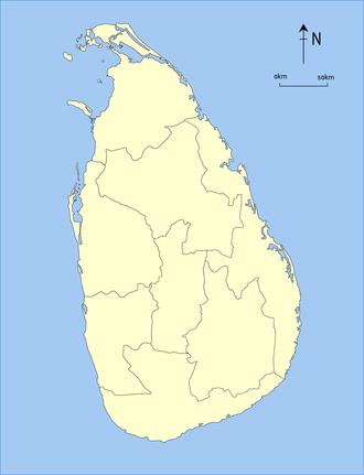 Provinces of Sri Lanka - Image: Provinces of British Ceylon, 1886 89