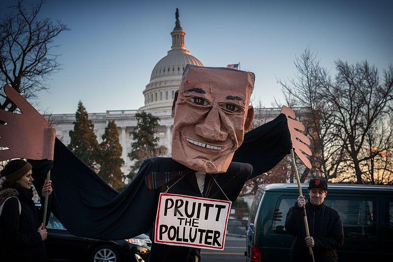 File:Pruitt The Pollutor, Rally To Oppose EPA Nominee Scott Pruitt (32119098643).jpg