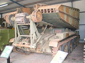 Armoured vehicle-launched bridge - Circa 2007, a Covenanter tank bridgelayer with bridge folded