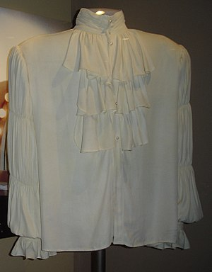 "Blouse - The famous Seinfeld ""puffy shirt"", worn by Jerry Seinfeld, is an example of a poet shirt blouse."