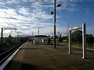 Puhinui Railway Station - The station in 2014, looking north.