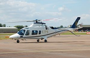 AgustaWestland - Qinetiq AgustaWestland AW109E Power arrives for the 2014 Royal International Air Tattoo, England
