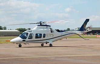 Qinetiq - Qinetiq AgustaWestland AW109E Power arrives for the 2014 Royal International Air Tattoo, England