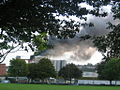 R&H Hall Silo On Fire 2006 Viewed From Kennedy Park.jpg