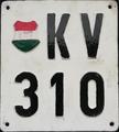 Régi Ritka, Címeres Rendszámtábla. 1948 és 1958 között volt hivatalosan forgalomban..png