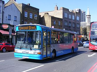 Ensignbus - Marshall Capital bodied Dennis Dart SLF on Rail replacement in April 2012