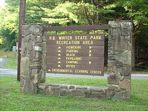 Hartley Township, Union County, Pennsylvania - R. B. Winter State Park a Pennsylvania state park is on Pennsylvania Route 192 in Hartley Township.