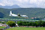 ROCAF Fokker 50 5003 on Final Approaching at Songshan Air Force Base 20150908b.jpg