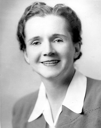 Marine Biologist Rachel Carson launched the 20th century environmental movement. Rachel-Carson.jpg