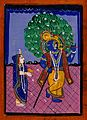 Radha and Krishna, Gouache drawing. Wellcome V0044945.jpg
