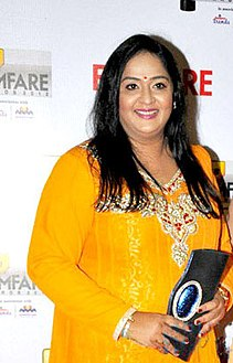 Radha at 60th South Filmfare Awards 2013