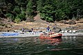 Rafters Camping along River, Rogue River-Siskiyou National Forest (37048520431).jpg