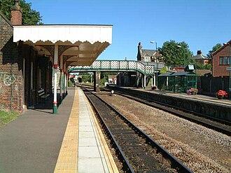 Reedham railway station (Norfolk) - Reedham railway station in 2001, looking towards Reedham Junction