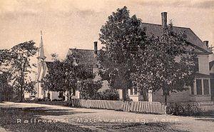 Mattawamkeag, Maine - Railroad Street c. 1910