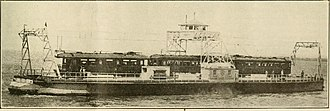 Sacramento Northern Railway - Car ferry 'Ramon' of the Oakland, Antioch, and Eastern Railway