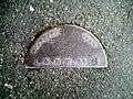 Railway boundary post, Smithdown Road.JPG