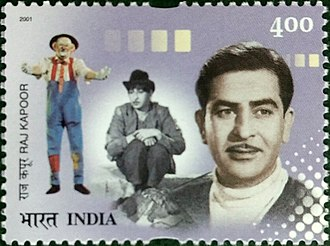 Raj Kapoor - Kapoor on a 2001 stamp of India