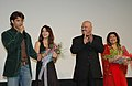 Rakesh Roshan, (director) and Hrithik Roshan (actor) at the presentation of the film Krissh on the occasion of 37th International Film Festival (IFFI-2006) in Panaji, Goa on November 30, 2006.jpg