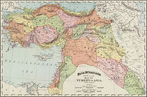 Eastern Anatolia Region - 1895 map making a clear distinction between Armenia and Anatolia