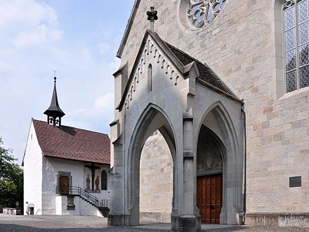 St. John's church portal and Liebfrauenkapelle to the left