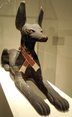 Figure of Anubis. Image via Wikipedia.