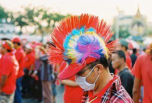 English: Red shirt in Bangkok.