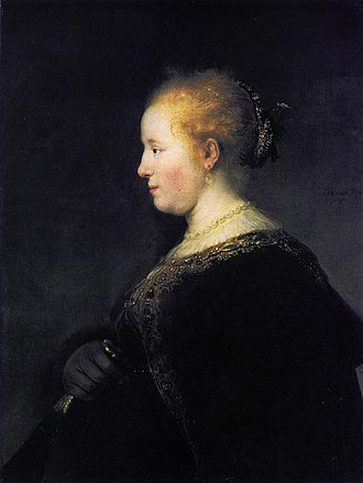 Pendant portraits of Maerten Soolmans and Oopjen Coppit - Image: Rembrandt van Rijn 196