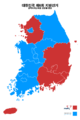 Republic of Korea local election 2014 result (metropolitan city or province).png