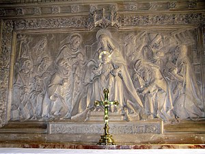 St Mary the Virgin, Gillingham, Dorset - Reredos behind the high altar