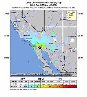 2010 Baja California earthquake - Image: Response imgs for quake