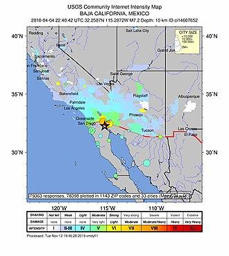 2010 Baja California earthquake - Image: Response imgs for quake