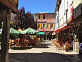 Restaurants in the Mirepoix square.JPG