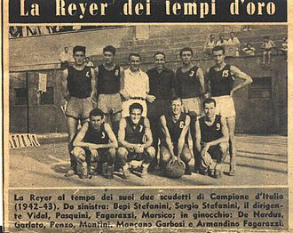 Reyer Venezia Mestre - The Reyer team that won league titles in 1942 and 1943