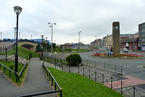 Rhyl - Rhyl clock tower and East Parade