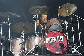Tré Cool - Tré Cool performing with Green Day in 2013