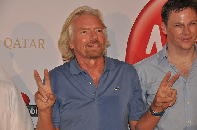 le milliardaire britannique et PDG de Virgin: Richard Branson