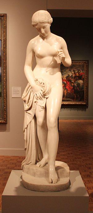 Richard James Wyatt - Girl Bathing,1830–35, marble, The Detroit Institute of Arts