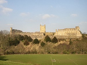 Richmond Castle - The castle seen from the south