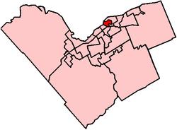 Location within Ottawa