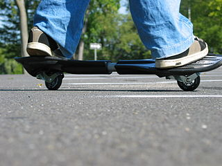 Caster board Two-wheeled, human-powered land vehicle