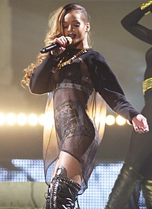 Rihanna au Diamonds World Tour