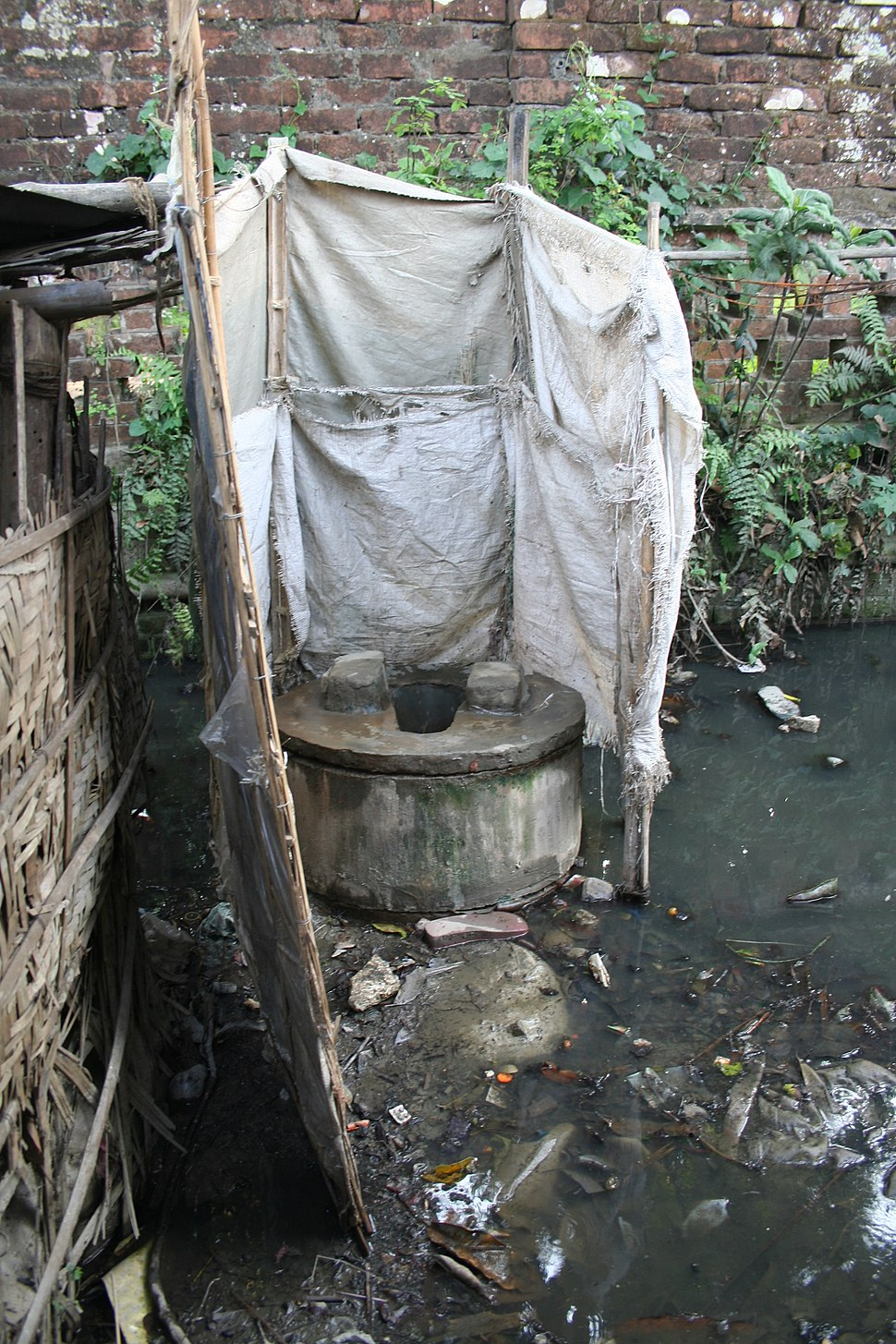 Ring-slab latrine in Kalibari community in Mymensingh, Bangladesh