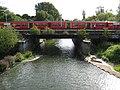 River Ember, Hampton Court railway station bridge - geograph.org.uk - 927778.jpg