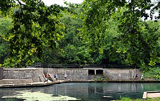 National Register of Historic Places listings in Barry County, Missouri - Image: Roaring River State Park Dam and Spillway
