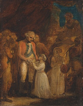 Robert Smirke (painter) - Image: Robert Smirke The Two Sons of Tipu Sahib, Sultan of Mysore, Being Handed over as Hostages to General Cornwallis Google Art Project