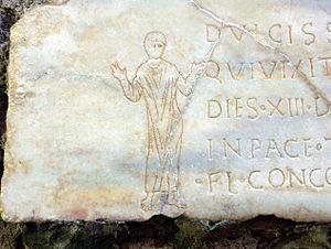 Orans - Figure in the gesture of orant, Catacombs of Domitilla, Rome