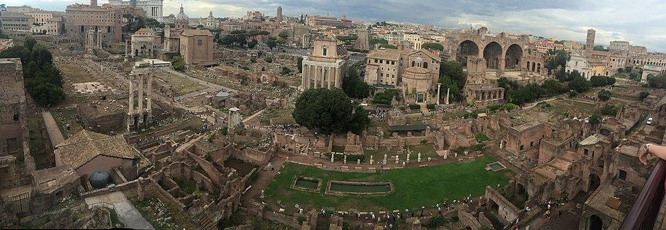 Roman Forum from Palatine Hill 9-9-16