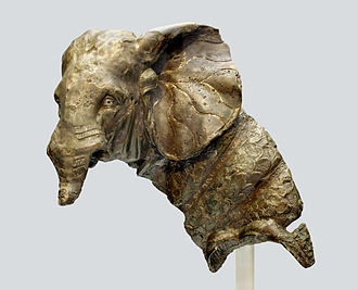 North African elephant - Roman bronze statue of a war elephant